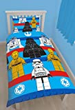 NEW Lego Star Wars Reversible Polycotton Duvet Cover Set Single - Blue/Red