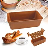 Best Meatloaf Pans - Gourmet Copper Infused Nonstick Copper Bread Pan Loaf Review