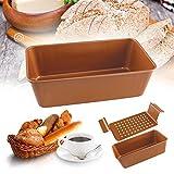 Gourmet - Molde antiadherente de cobre con bandeja de goteo para hornear pan, salsa de carne, tartas