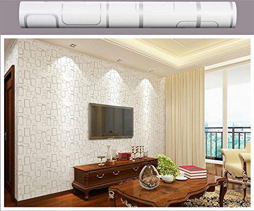 Quadrat Papier Schatten (Wallpaper Wallpaper selbstklebend Tapete PVC Quadrat 3D Stereo Dekoration Wohnzimmer Restaurant TV Wand Schlafzimmer Tapeten Tapete -0.45m (W) * 10m (L))