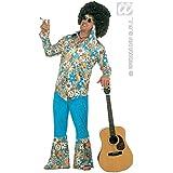Widman - Disfraz de hippie años 60s para hombre, talla L (3171H)