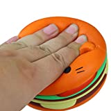 Stress Reliever Toys, HARRYSTORE Squeeze Jumbo Cartoon Cat Hamburger Squishy Slow Rising Decompression Easter Phone Strap Toy ADD ADHD (orange)