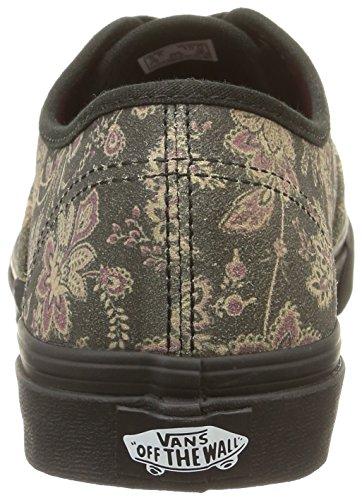 Vans Authentic Slim, Baskets Basses Mixte Adulte Noir (Floral/Black/Blanc de Blanc)