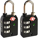 Tofern TSA Approved Security Cable Luggage Locks 3-Digits Combination Password Locks Padlocks Travel Lock with flexible wires