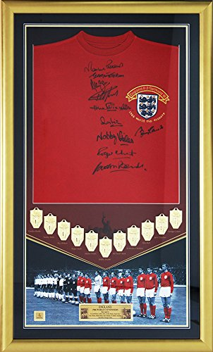 Signed-1966-England-Framed-World-Cup-Shirt-by-10-players-Limited-Edition