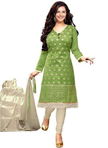Color Trends Women's Cotton Silk Chudidar Dress Material (Ctrmd179_Free Size)