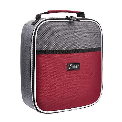 Kato Thermo-isolierte Lunchtasche Kühler Tote, Outdoor Sports Tragbare Lunchbox mit Dual Reißverschluss und Tasche vorne für Damen und Herren The size for most rot -
