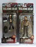 The Walking Dead Exclusive Rick Grimes and Carl Grimes Action Figures Series 4 (Set Includes Father Rick and son Carl, total of 2 figures) by Unknown