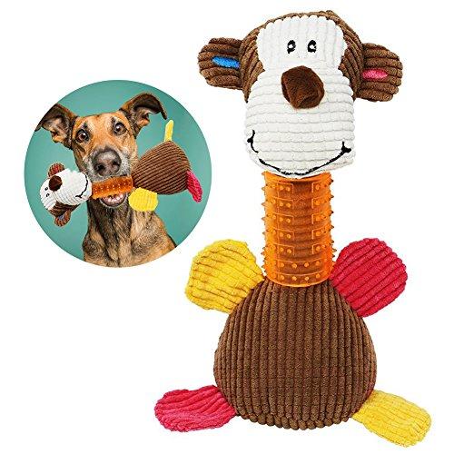 VAMEI Perro Mascota Chew Toys Squeaky Tough Juguetes interactivos para Perros Regalo de año Nuevo del Mono de Peluche para Mascotas, Perros pequeños