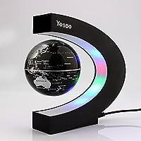 Yosoo C Forma Decoración Levitación Magnética Flotante Mapa del Mundo Globo Luz LED