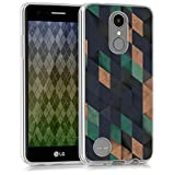 kwmobile Cover per LG K8 (2017) - Custodia Morbida in Silicone TPU - Back Case Protezione Posteriore per Cellulare Blu Scuro/Petrolio/Beige