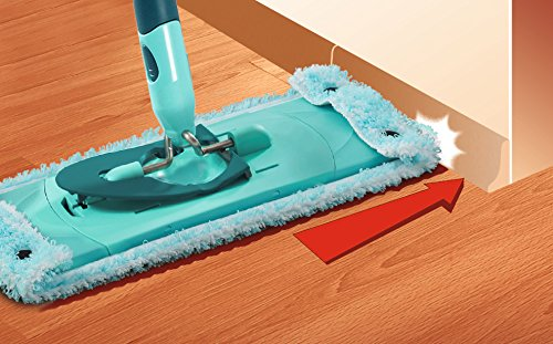 Leifheit Clean Twist - Funda para mopa extra soft de microfibra, color verde