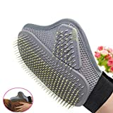 Y56® Pet Grooming Glove for Dogs - Soft Silicone Pet Cleaning Bath Massage Grooming Gloves Hair Remover Comb Brush Shedding Tool Short Long Fur Removal Mitts for Dogs Cats Rabbits Horses - Right Hand