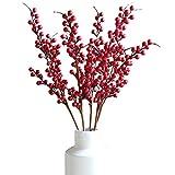 Justdolife 5 Trauben Weihnachtsbeeren KüNstliche Beeren Weihnachtsdekorations Anlage
