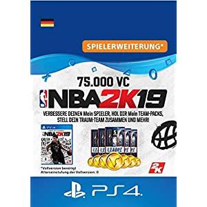 NBA 2K19 – 75.000 VC-Pack – 75.000 DLC | PS4 Download Code – deutsches Konto