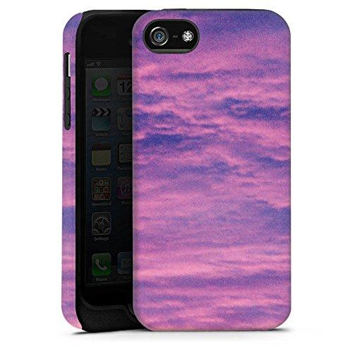 Apple iPhone X Silikon Hülle Case Schutzhülle Lila Wolken Himmel Tough Case matt