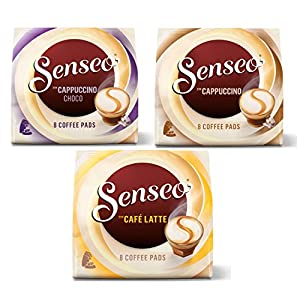 Senseo Cream Collection, Café Latte, Cappuccino Choco, Coffee, 3 Bags x 8 Pads