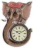 Swagger/GIFTWITHSWAGGER Multicolor Ganesha wall clock / vintage wall clock / unique wall clock / wooden wall clock / decorative wall clock