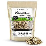 Räuchergarten Premium Räucherchips - 1kg Buche Smoker Chunks für optimales Raucharoma beim Grillen - 100% natürliches Räucherholz aus Deutschland