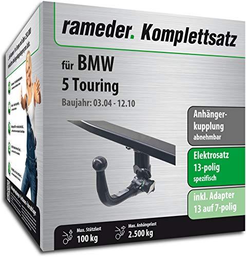 Rameder Komplettsatz, Anhängerkupplung abnehmbar + 13pol Elektrik für BMW 5 Touring (113213-05079-1)