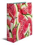 Herma 7104 Karton Motivordner DIN A4, Serie Früchte, Design Wassermelone, 70 mm breit, 1 Ordner, mit Innendruck