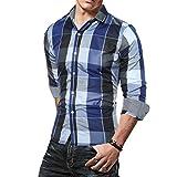 CICIYONER Herren Herbst Camouflage Langarm Pullover Sweatshirts Oben Bluse (2XL, Blau)