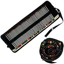 Kurtzy Set 48 Lápices de Colorear Artistas - Mejores Crayones de Colorear en Bolso de Tela Enrollable - Perfecto para Viajes, Artistas y Entusiastas del Dibujo - Apto para Niños y Adultos