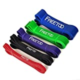 FREETOO Resistance Stretch Exercise Pull up Rubber Bands for Men, Women Workout at Home or Gym
