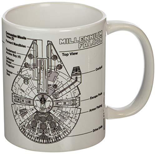 "Pyramid International ""Star Wars (Millennium Falcon Sketch)"" - Taza de café / té oficial de cerámica en caja, multicolor, 11 oz / 315 ml"