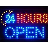 LAMPE NEON ENSEIGNE LUMINEUSE LED led051-b 24 Hours OPEN Moon Shop LED Neon Sign