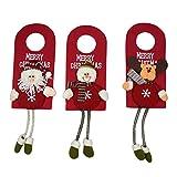 """Best Gardeningwill decoraciones de Navidad - 3pcs 10""""Puerta de pared adornos colgantes decoración de Review"""