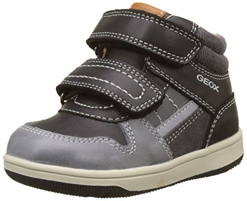 Geox Baby Jungen B New Flick Boy A High Top Sneaker, Schwarz (Black/Dk Grey), 26 EU (Patent-high-top-sneaker)