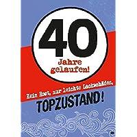 Musikkarten Mit Sound Überraschung 008b Zum 40. Geburtstag