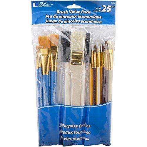 Loew-Cornell - Set di pennelli, Confezione Risparmio da 25, Multicolore