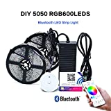 LED Lichtleiste 10m 600 LED Stripe RGB -LED Stripes Bluetooth Wireless Smart Phone Gesteuert SMD 5050 Leds mit Netzteil-LED Streifen-LED Bänder Full Kit.