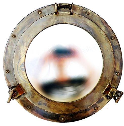 Bullauge Spiegel | Maritime Dekoration | Messing antik Wand des internationalen Schiff zum Aufhängen | Nagina... - Messing Wand Spiegel