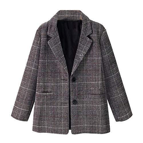 Luckycat Frauen Damen Plaid Lange Hülsenweste Jacken Mantel Oberbekleidung Jacken Mäntel Sweatjacke Winterjacke Fleecejacke Steppjacke