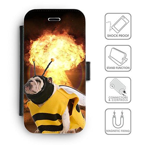 Grand Phone Cases Flip PU Leder Geldbörse mit Kreditkartenfächern // Q05650643 Bulldoggen Bienen Pilz sprudeln // Motorola Moto x Play 2015 - Bienen-pilz