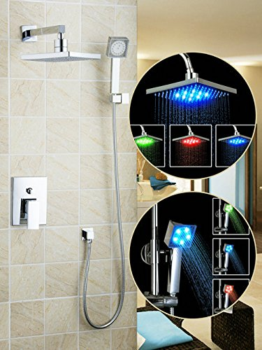 Luxurious shower Dusche Set LED Licht 8