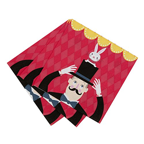 Talking Tables Magic Party Paper Napkins for Birthday, Children's, Kids and Party Celebrations, Multicolour (20 Pack)