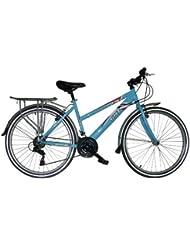 """Bicicleta de paseo Gotty P26 Eco, cuadro 26"""" ALUMINIO, dirección integrada, cambio 6 velocidades Shimano TZ50, con guardabarros, cubrecadenas y cesta delantera."""