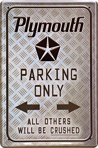 barschild-baraccessoires-plymouth-parking-only-blechschild-dekoschild-20x30cm-metal-sign-xps32ba