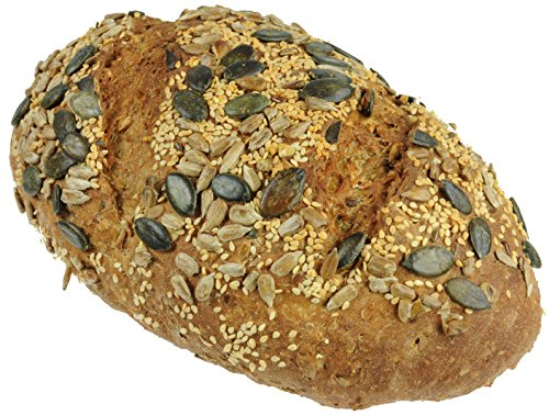 Hobbybäcker Kürbiskernbrot, ► Weizenmischbrot mit Kürbiskernen, Sojaschrot, Leinsamen, Sonnenblumenkernen, 1 kg