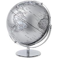 Globe Collection - Globo terráqueo (43 cm), color plateado