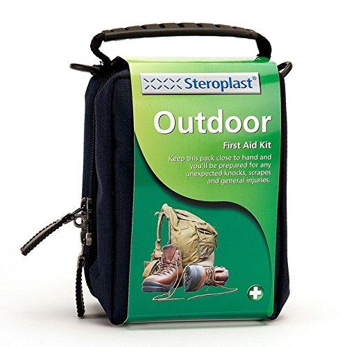 Steroplast Erste Hilfe Set Outdoor - Besonders ideal für die Verwendung im Freien - Praktisch für jede Sportart wie Hiken, Wandern oder Wassersport - Mit sterile Produkte aus wasserfestem Material - Inkl. Wundpflaster, Handschuhe & Waschlösung
