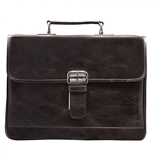 "Plevier 725-3 15.6"" Briefcase Brown - notebook cases (39.6 cm (15.6""), Briefcase, Brown, Leather, Monotone, 390 mm) marrone scuro"