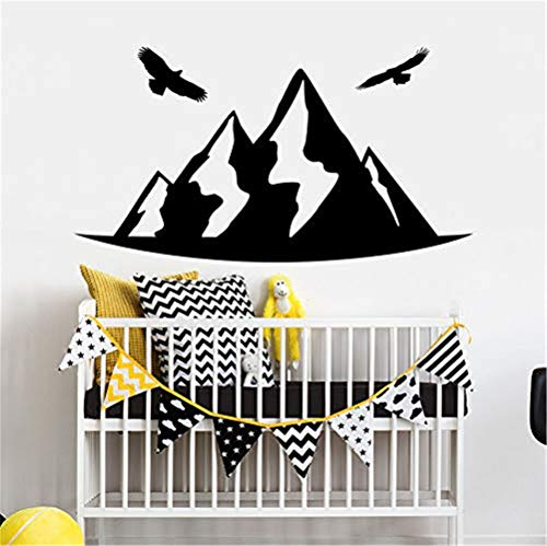 Wandtattoo Vinyl Wall Sticker Mountain Style Wall Decal Nursery Room Decor Bird Sticker Crib Decal Kids Bedoom Decoration Wall Mural