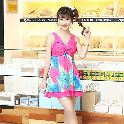XBR koreanische badeanzug ist bedeckt mit dünn dünn und konservative studenten,rose red