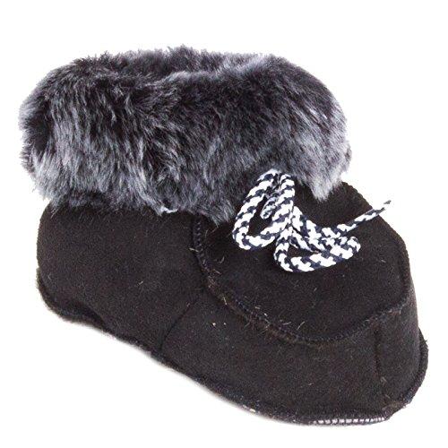 Preto Com Peles De Inverno Shearling Macios Botas Bebê Rendas De Gr Marrom Sapatos Cores 16 Escuras Duas De qBxwHZ88