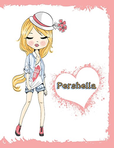 Pershella: Journal, Notebook, Diary, 105 Lined Pages, Personalized Book with Name, 8 1/2